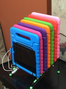 Homemade multi-iPad charging stand