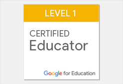 Google Certified Educator level 1 logo